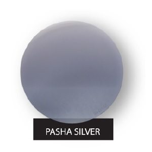 Pasha Silver Silver Mirror On Brown