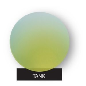 Tank Green Mirror on Light Grey