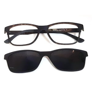 7034 Matte Dark Tortoise with Magnetic Polarised Clip On