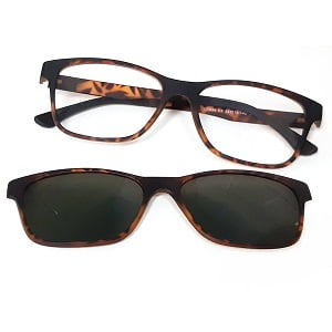 7034 Matte Tortoise with Magnetic Polarised Clip On