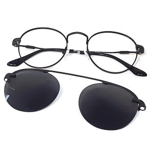 3042 Black with Magnetic Polarised Clip On