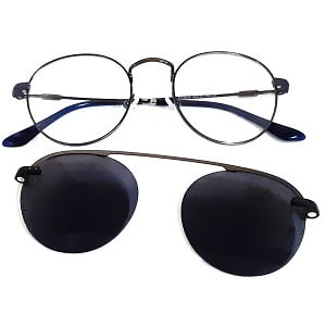 3042 Gunmetal Navy with Magnetic Polarised Clip On