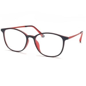Occhio Flexon 1631 Matte Black Inner Red