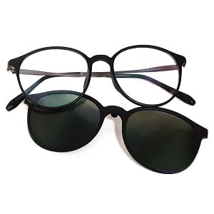207 Matte Black frames with Magnetic Polarised Clip On