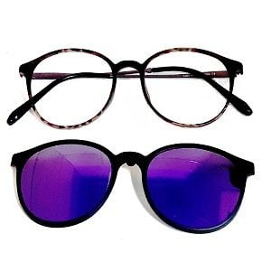 207 Matte Tortoise frames with Magnetic Polarised Clip On