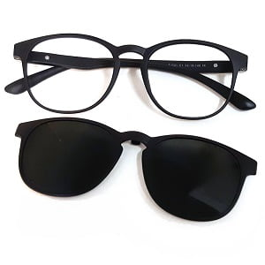 501 Matte Black frames with Magnetic Polarised Clip On