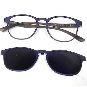 501 Matte Navy frames with Magnetic Polarised Clip On