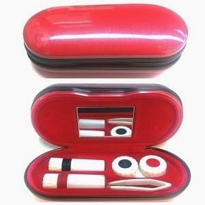 Contact Lens and Frame Case - Red